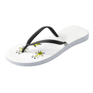 Bumble Bee Flip Flops with Black Straps