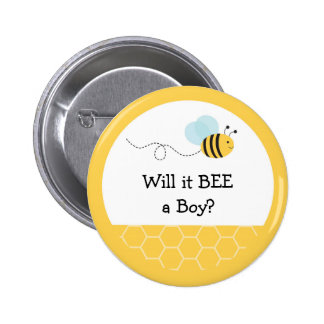 Bumble Bee Gender Reveal Button