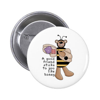 Bumble Bee Good Friend 6 Cm Round Badge