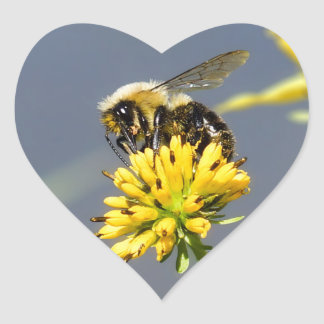 Bumble Bee Heart Shaped Sticker