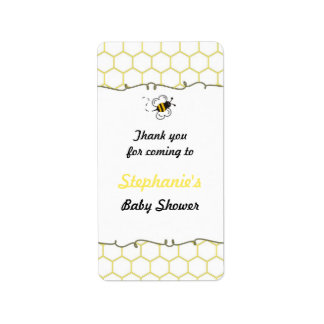 Bumble Bee Hive Baby Shower Favor Labels