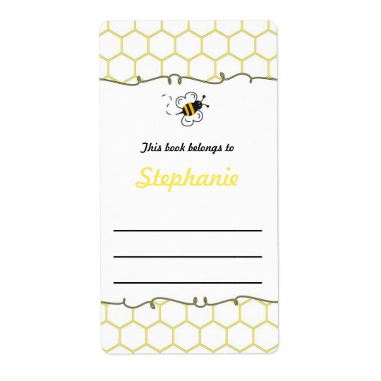 Bumble Bee Hive Bookplate Label - Book Plate