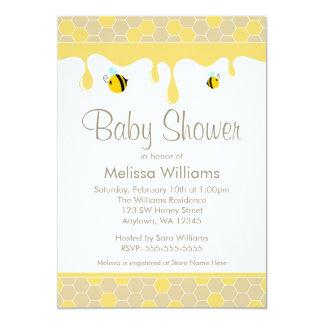 bumble bee honey baby shower invitations