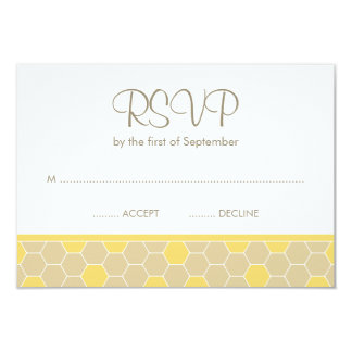 Bumble Bee Honey Baby Shower RSVP 9 Cm X 13 Cm Invitation Card