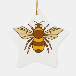 Bumble Bee Icon Ceramic Ornament