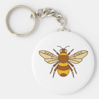 Bumble Bee Icon Key Ring