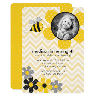 Bumble Bee Kids Birthday Party Card