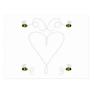 Bumble Bee Love Postcard