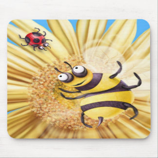 BUMBLE BEE LOVING THE LADY BIRD MOUSE MATS