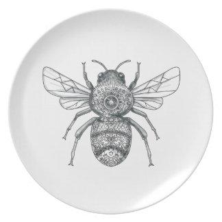 Bumble Bee Mandala Tattoo Plate