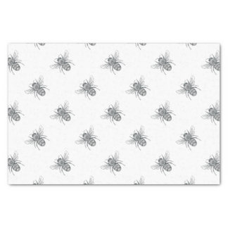 Bumble Bee Mandala Tattoo Tissue Paper