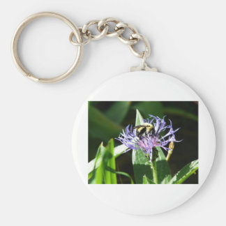bumble bee,on a bachelor button keychains