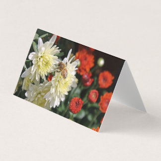 Bumble Bee Red Cards Flowers White