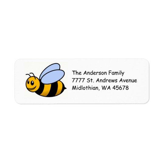 Bumble Bee Return Address Avery Label
