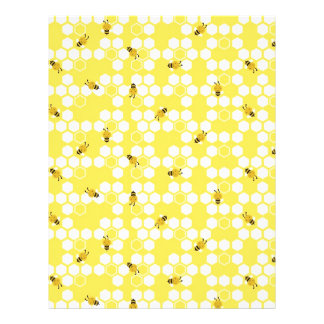 Bumble Bee Scrapbook Paper Dual-sided 21.5 Cm X 28 Cm Flyer