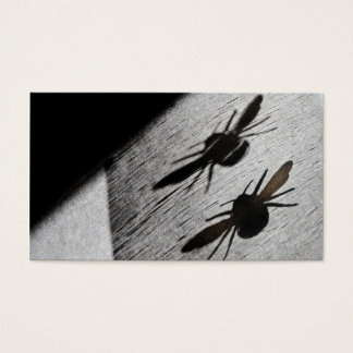 Bumble Bee Silhouette Shadow Business Card