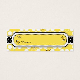 Bumble Bee Skinny Gift Tag