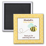Bumble Bee Square Favour Magnet