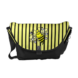 Bumble Bee Stripes Messenger Bag