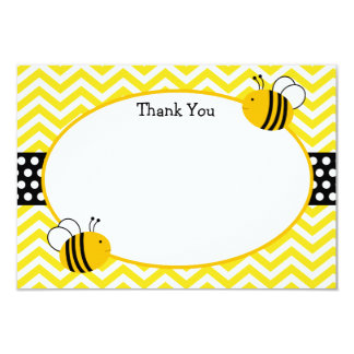 Bumble Bee Thank You Cards 9 Cm X 13 Cm Invitation Card
