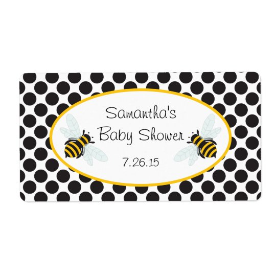 Bumble Bee Water Bottle Label Shipping Label