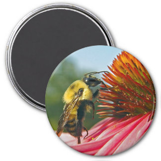 Bumble Bee With Sky Heart 7.5 Cm Round Magnet