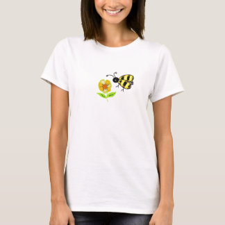 Bumble Bee with Yellow Flower T-Shirt