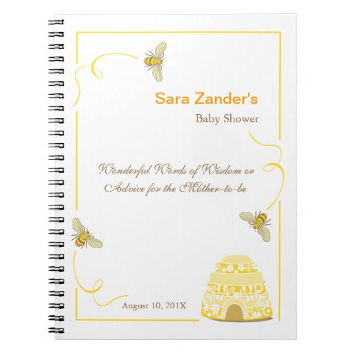 Bumble Bee  |  Words of Advice Baby Shower Notepad Note Books