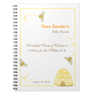 Bumble Bee  |  Words of Advice Baby Shower Notepad Notebooks