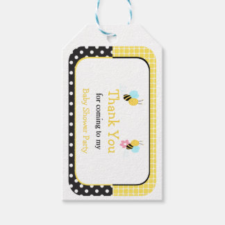 Bumble Bee Yellow and Black Thank You Gift Tag