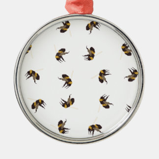 Bumble Bees Metal Ornament