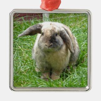 Bumble Rabbit Metal Ornament