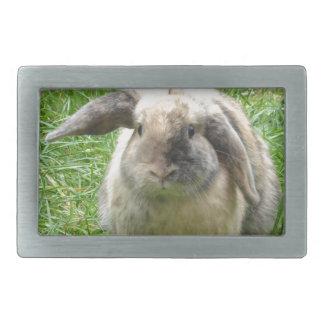Bumble Rabbit Rectangular Belt Buckle