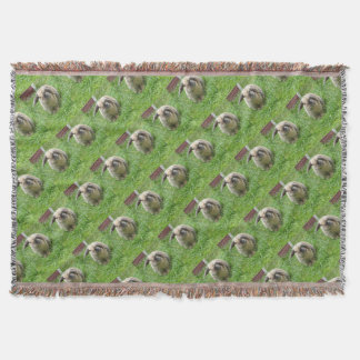 Bumble Rabbit Throw Blanket
