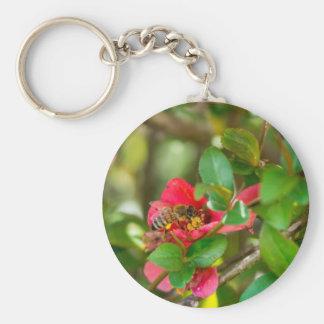 Bumblebee And Azalea Basic Round Button Key Ring