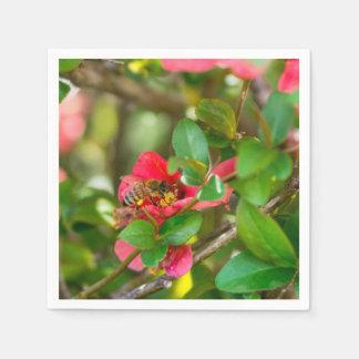 Bumblebee And Azalea Paper Napkin