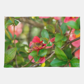 Bumblebee And Azalea Tea Towel