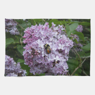 Bumblebee and Lilac Kitchen Towel