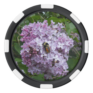 Bumblebee and Lilac Poker Chips