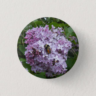 Bumblebee and Lilac Tree Button