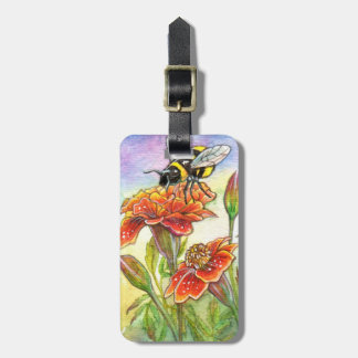Bumblebee And Marigold Luggage Tag