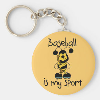 Bumblebee Baseball My Sport Tshirts and Gifts Basic Round Button Key Ring