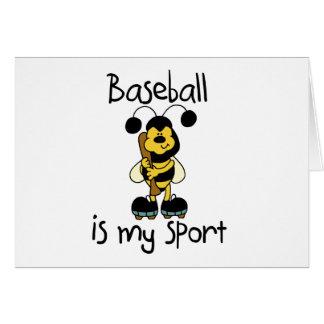 Bumblebee Baseball My Sport Tshirts and Gifts Card