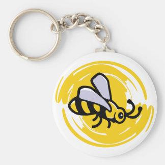 Bumblebee Basic Round Button Key Ring