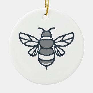 Bumblebee Bee Icon Ceramic Ornament