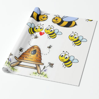 bumblebee childrens wrapping paper gift