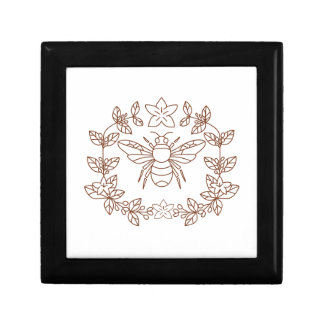 Bumblebee Coffee Flower Leaves Icon Gift Box