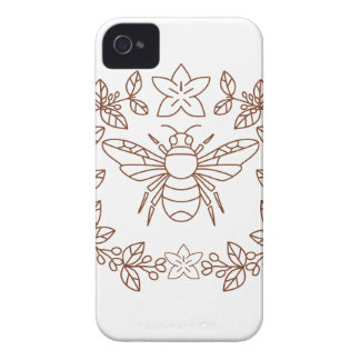 Bumblebee Coffee Flower Leaves Icon iPhone 4 Case-Mate Case