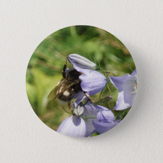 Bumblebee flower photo button