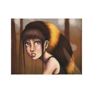 Bumblebee Girl Canvas Print
